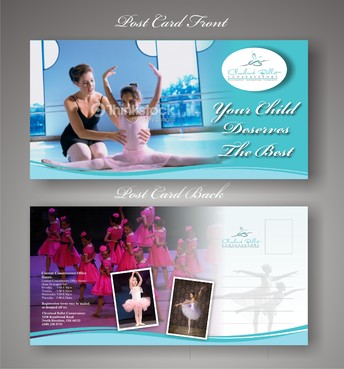 Ballet School Postcard Marketing collateral  Draft # 23 by syukurkurnia