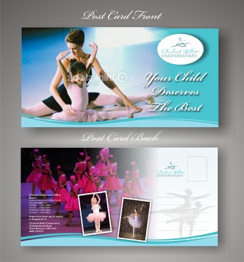 Ballet School Postcard Marketing collateral  Draft # 24 by syukurkurnia