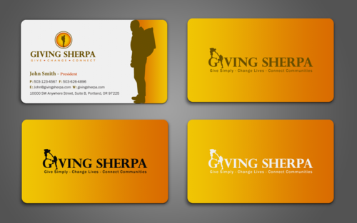 Giving Sherpa Business Cards and Stationery  Draft # 369 by einsanimation