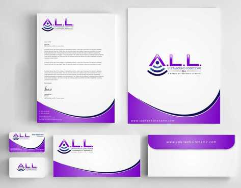 A.L.L. Ultrasound Solutions LLC:  A mobile ultrasound company Business Cards and Stationery  Draft # 291 by Dawson