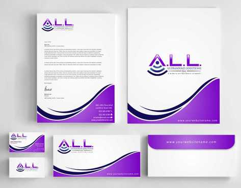 A.L.L. Ultrasound Solutions LLC:  A mobile ultrasound company Business Cards and Stationery  Draft # 293 by Dawson