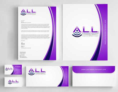 A.L.L. Ultrasound Solutions LLC:  A mobile ultrasound company Business Cards and Stationery  Draft # 294 by Dawson