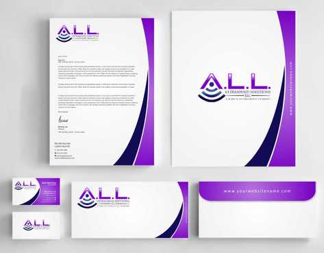 A.L.L. Ultrasound Solutions LLC:  A mobile ultrasound company Business Cards and Stationery  Draft # 295 by Dawson