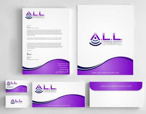 A.L.L. Ultrasound Solutions LLC:  A mobile ultrasound company Business Cards and Stationery  Draft # 296 by Dawson