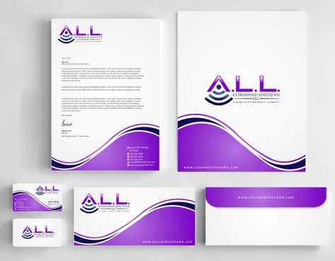 A.L.L. Ultrasound Solutions LLC:  A mobile ultrasound company Business Cards and Stationery  Draft # 298 by Dawson