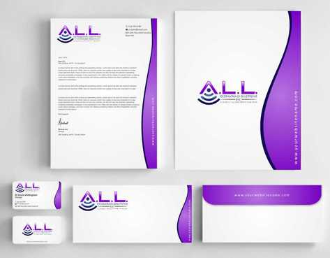 A.L.L. Ultrasound Solutions LLC:  A mobile ultrasound company Business Cards and Stationery  Draft # 299 by Dawson
