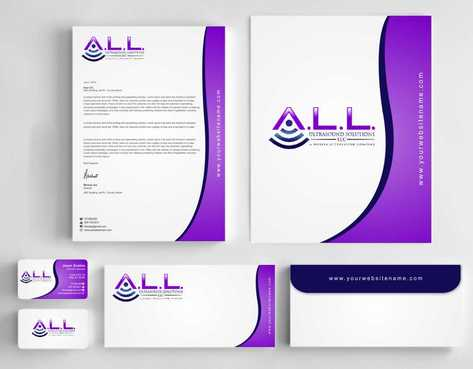 A.L.L. Ultrasound Solutions LLC:  A mobile ultrasound company Business Cards and Stationery  Draft # 300 by Dawson