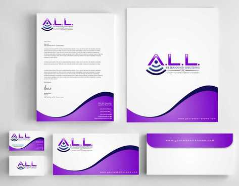 A.L.L. Ultrasound Solutions LLC:  A mobile ultrasound company Business Cards and Stationery  Draft # 301 by Dawson