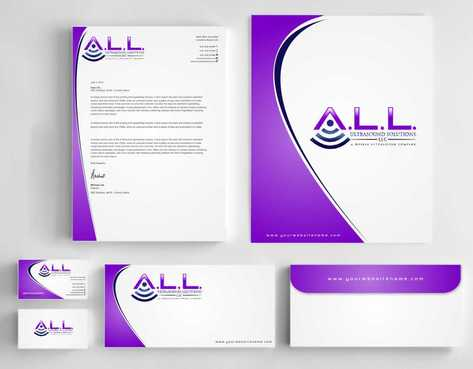 A.L.L. Ultrasound Solutions LLC:  A mobile ultrasound company Business Cards and Stationery  Draft # 302 by Dawson