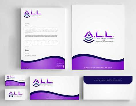 A.L.L. Ultrasound Solutions LLC:  A mobile ultrasound company Business Cards and Stationery  Draft # 305 by Dawson