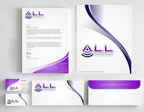 A.L.L. Ultrasound Solutions LLC:  A mobile ultrasound company Business Cards and Stationery  Draft # 306 by Dawson