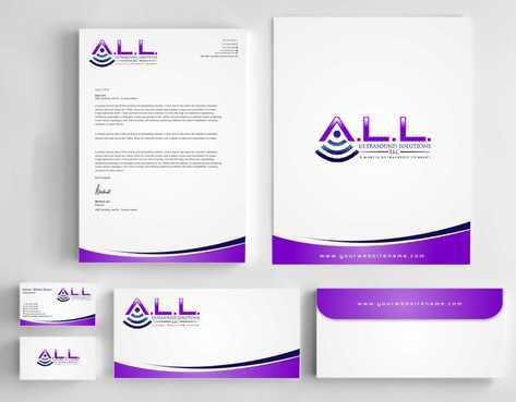 A.L.L. Ultrasound Solutions LLC:  A mobile ultrasound company Business Cards and Stationery  Draft # 308 by Dawson