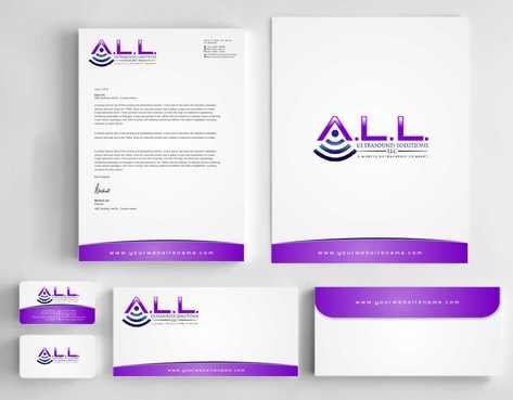 A.L.L. Ultrasound Solutions LLC:  A mobile ultrasound company Business Cards and Stationery  Draft # 309 by Dawson