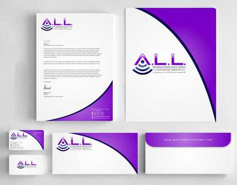 A.L.L. Ultrasound Solutions LLC:  A mobile ultrasound company Business Cards and Stationery  Draft # 311 by Dawson