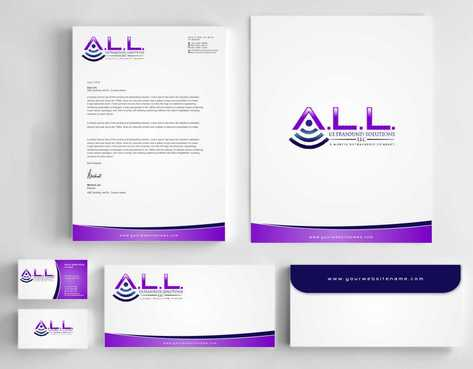 A.L.L. Ultrasound Solutions LLC:  A mobile ultrasound company Business Cards and Stationery  Draft # 312 by Dawson