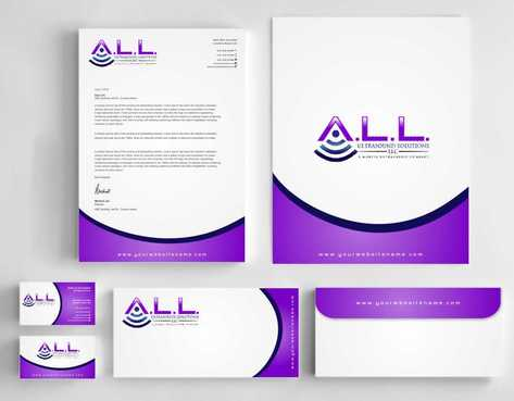 A.L.L. Ultrasound Solutions LLC:  A mobile ultrasound company Business Cards and Stationery  Draft # 313 by Dawson