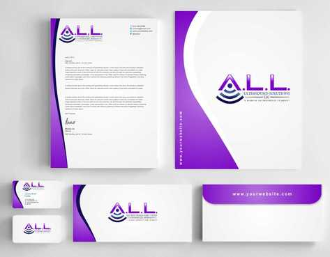 A.L.L. Ultrasound Solutions LLC:  A mobile ultrasound company Business Cards and Stationery  Draft # 314 by Dawson