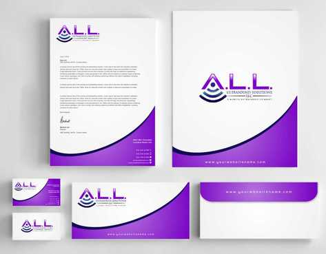 A.L.L. Ultrasound Solutions LLC:  A mobile ultrasound company Business Cards and Stationery  Draft # 316 by Dawson