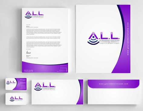 A.L.L. Ultrasound Solutions LLC:  A mobile ultrasound company Business Cards and Stationery  Draft # 317 by Dawson