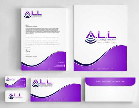 A.L.L. Ultrasound Solutions LLC:  A mobile ultrasound company Business Cards and Stationery  Draft # 318 by Dawson