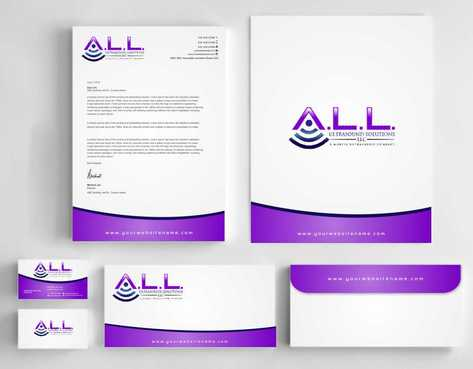 A.L.L. Ultrasound Solutions LLC:  A mobile ultrasound company Business Cards and Stationery  Draft # 319 by Dawson