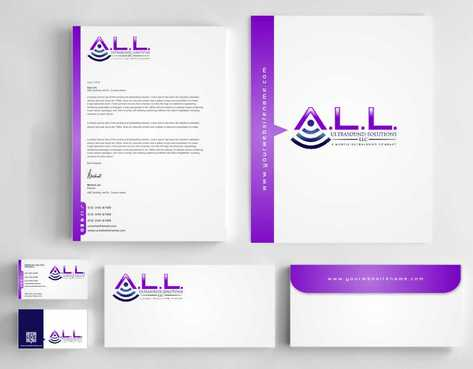 A.L.L. Ultrasound Solutions LLC:  A mobile ultrasound company Business Cards and Stationery  Draft # 322 by Dawson