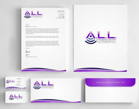 A.L.L. Ultrasound Solutions LLC:  A mobile ultrasound company Business Cards and Stationery  Draft # 324 by Dawson