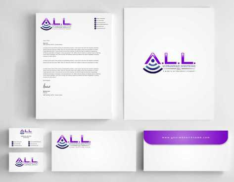 A.L.L. Ultrasound Solutions LLC:  A mobile ultrasound company Business Cards and Stationery  Draft # 325 by Dawson