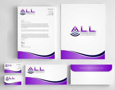 A.L.L. Ultrasound Solutions LLC:  A mobile ultrasound company Business Cards and Stationery  Draft # 326 by Dawson