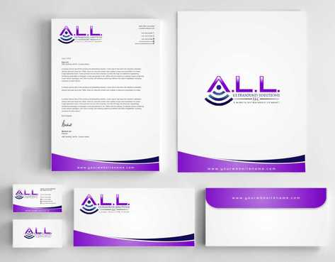 A.L.L. Ultrasound Solutions LLC:  A mobile ultrasound company Business Cards and Stationery  Draft # 327 by Dawson