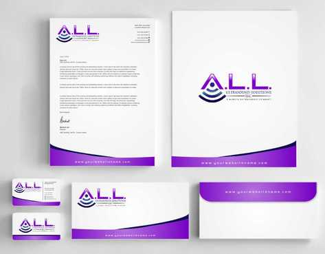 A.L.L. Ultrasound Solutions LLC:  A mobile ultrasound company Business Cards and Stationery  Draft # 328 by Dawson