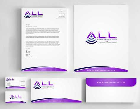A.L.L. Ultrasound Solutions LLC:  A mobile ultrasound company Business Cards and Stationery  Draft # 329 by Dawson