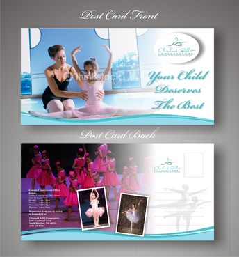 Ballet School Postcard Marketing collateral  Draft # 28 by syukurkurnia