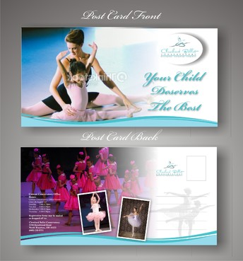 Ballet School Postcard Marketing collateral  Draft # 29 by syukurkurnia