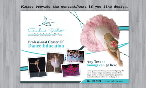 Ballet School Postcard Marketing collateral  Draft # 30 by Achiver