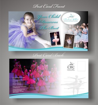 Ballet School Postcard Marketing collateral  Draft # 31 by syukurkurnia