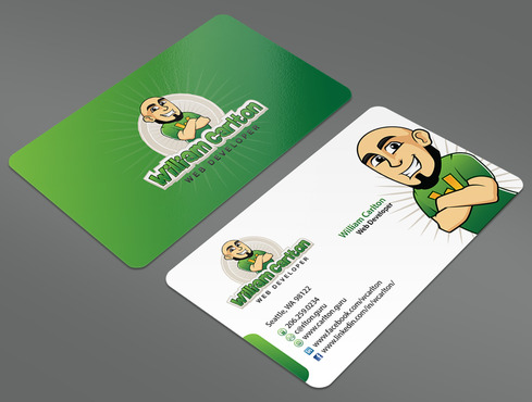 William Carlton Web Developer Business Cards and Stationery  Draft # 4 by ArtworksKingdom