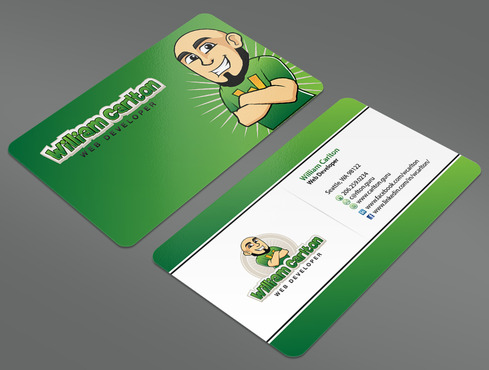 William Carlton Web Developer Business Cards and Stationery  Draft # 18 by ArtworksKingdom