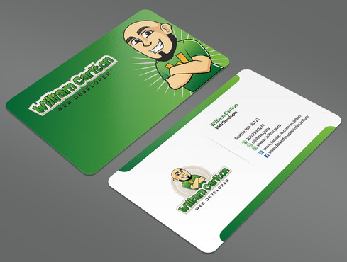 William Carlton Web Developer Business Cards and Stationery  Draft # 24 by ArtworksKingdom