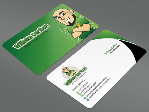 William Carlton Web Developer Business Cards and Stationery  Draft # 26 by ArtworksKingdom