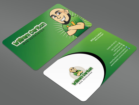 William Carlton Web Developer Business Cards and Stationery  Draft # 32 by ArtworksKingdom