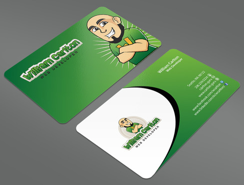 William Carlton Web Developer Business Cards and Stationery  Draft # 34 by ArtworksKingdom