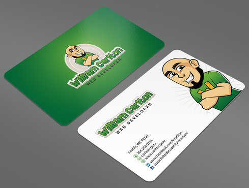 William Carlton Web Developer Business Cards and Stationery  Draft # 42 by ArtworksKingdom