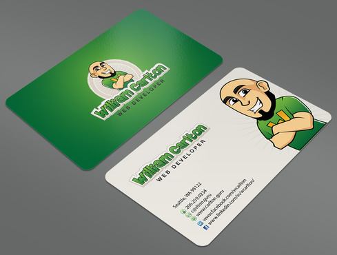 William Carlton Web Developer Business Cards and Stationery  Draft # 43 by ArtworksKingdom