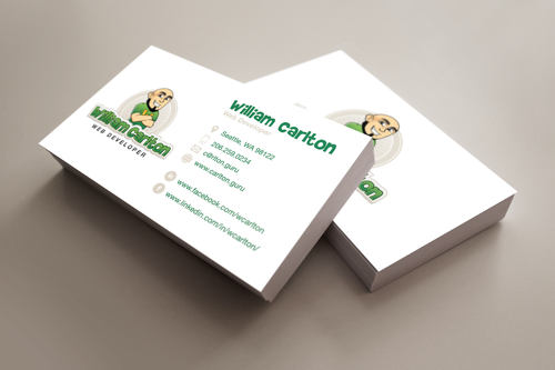 William Carlton Web Developer Business Cards and Stationery  Draft # 44 by evermoredizayn