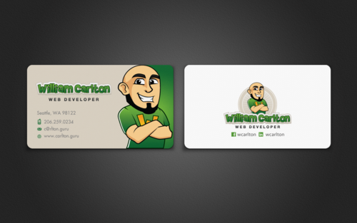 William Carlton Web Developer Business Cards and Stationery  Draft # 66 by einsanimation