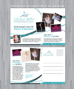 Ballet School Postcard Marketing collateral  Draft # 32 by Achiver