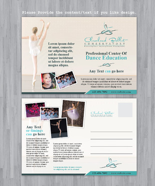 Ballet School Postcard Marketing collateral  Draft # 33 by Achiver