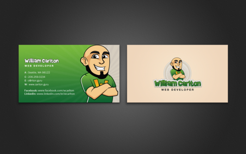 William Carlton Web Developer Business Cards and Stationery  Draft # 105 by einsanimation