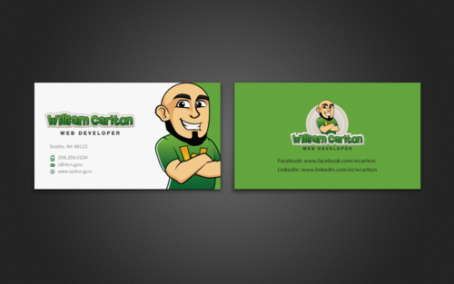 William Carlton Web Developer Business Cards and Stationery  Draft # 113 by einsanimation